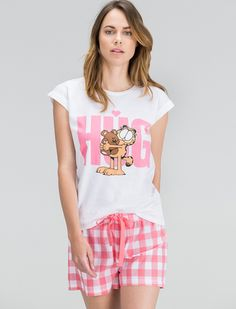 women'secret | Productos | Pijama corto de Garfield