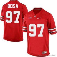 c1fe3b1fb Joey Bosa Ohio State Buckeyes  97 Stitched Football Jersey - Scarlet Red  Custom Football