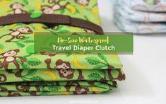 No-Sew Waterproof Travel Diaper Clutch