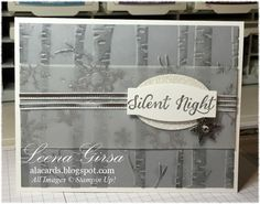 by Leena: Wonderland, Holidays Fancy Foil Vellum, Woodland embossing folder, & more - all from Stampin' Up!