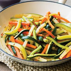 Golden Vegetables - Simple veggie recipe with bright flavors. Served with grilled chicken.