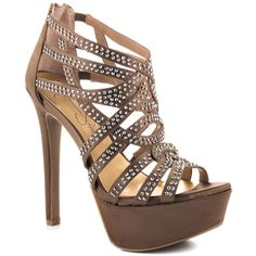 $114.99 Enveloped yourself in #style with the ultra #chic #Elanor. #Jessica #Simpson delivers a #dark #champagne #satin upper with #rhinestone encrusted straps. A zipper in the back, 5 1/4 inch #heel and 1 1/4 inch #platform finishes off this luxurious eye catcher.    #Shoe Details:  #Fabric Upper  Man Made Sole  Made In China  This Shoe Fits True To Size.