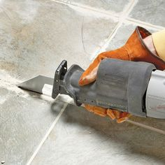 Simplify ceramic tile grout removal by using a carbide-grit blade in a reciprocating saw or an oscillating tool. Both speed up this tough, tedious chore.