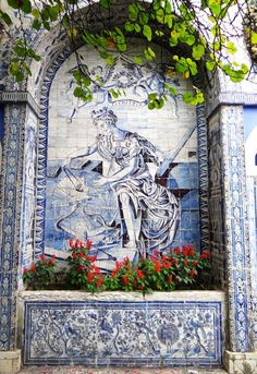 Fabulous #tile work in Lisbon, Azulejos, Portugal