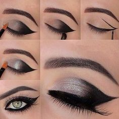 The Smoky EYE #5 #smokyeye #silver #eyemakeup