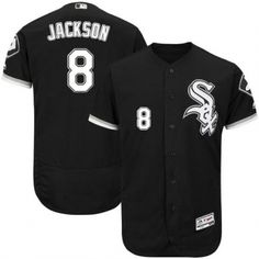 30677b34768 Authentic Chicago White Sox No.8 Bo Jackson Majestic Alternate Flexbase  Collection Jersey - Black