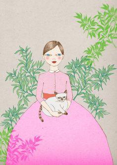Siamese Cat poster artwork print of original by IrenaSophia, $20.00