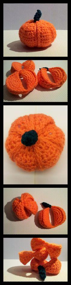 Crochet Pumpkin1 001 Crochet Pumpkin Segment Ball