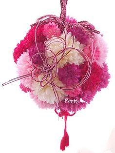 ふさふさ、まるまる、春色ボールブーケ |Wedding Flower・ぽると のブログ