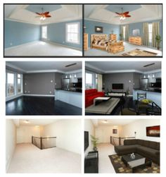 Virtual Staging (photos by alwaysimagine and rachel labelle) #homestaging #virtualstaging : http://www.blog.househuntnetwork.com/virtual-staging/