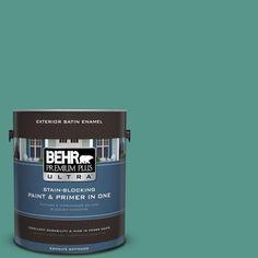 BEHR Premium Plus Ultra 1-gal. #490D-6 Thermal Spring Satin Enamel Exterior Paint