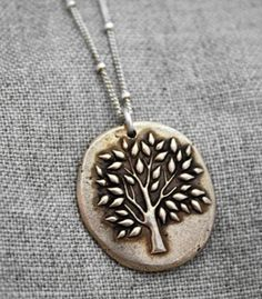 Beautiful calming tree necklace!!