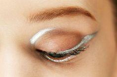 Metallic Silver Lines #eye #makeup Dior Fall Winter 2013
