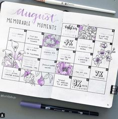 Lessons on Instagram changes and a round up of this weeks top Purple Bullet Journal Spreads