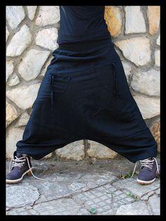 Black Swan Harem Pants Sarouel Afghan Pants by IsNoGoodWear