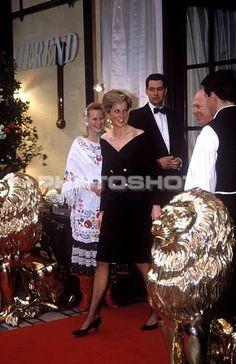 May 10, 1989:  Princess Diana, Princess of Wales British Wildlife Appeal Reception, Garrards, London