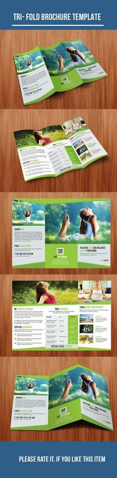 Tri- Fold Yoga Brochure on Behance