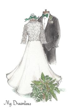 handcrafted wedding dress sketches make the best gift for wife. A customized sketch of her dress she has been dreaming of since she was a little girl. Classic Home Decor, Cute Home Decor, Retro Home Decor, Handmade Home Decor, Cheap Home Decor, 50s Bedroom, Bedroom Decor, Decor Room, Wedding Dress Sketches