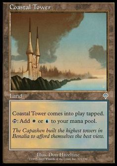 Land Invasion Mtg Magic Uncommon 4x x4 4 PLAYED Coastal Tower