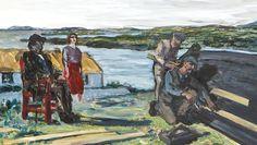 """Jack B. Yeats, """"The Boat builder"""". Glasgow Girls, Irish Painters, Jack B, Irish Culture, University Of Toronto, Irish Art, Contemporary Paintings, Butler, Boat"""