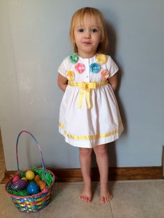 1980s baby girls OOAK floral dress with plaid by VinTaGeOus102607, $24.00