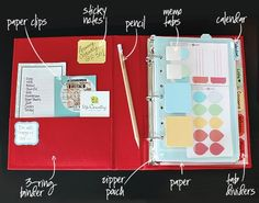 Great DIY Planner. I own a personal daytimer but this is great for work. I can organize my home health forms and such for patients as well as tracking visits, notes, doctors orders, etc. This is my next project.