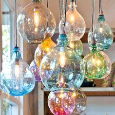 Globe lights. Sooooo pretty.