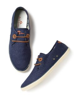 Mast & Harbour Navy Blue Solid Sneakers