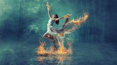 Burning dance fire effect manipulation | photoshop tutorial - YouTube