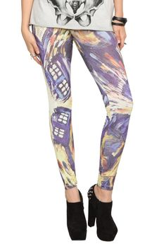 Doctor Who Van Gogh TARDIS Leggings Are Now Available For Pre-Order