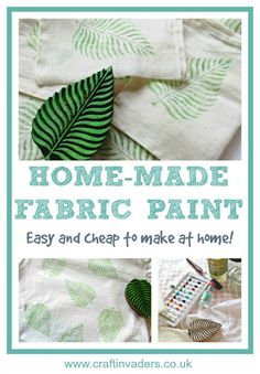 Learn how to make your own DIY fabric paints from acrylic paint by adding a couple of household ingredients.The fabric paints not only look fabulous, but are also washable and don't need to be set with heat. DIY from @CraftInvaders