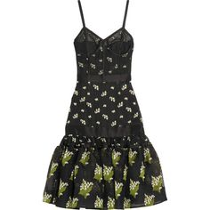 Alexander McQueen Satin-trimmed silk-blend jacquard and tulle dress (5.955 BRL) ❤ liked on Polyvore featuring dresses, alexander mcqueen, dresses 3, tulle cocktail dress, pattern dress, mixed print dress, jacquard dress and drop-waist dresses