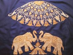 My embroidery by lola Aari Embroidery, Hand Work Embroidery, Indian Embroidery, Embroidery Designs, Blouse Patterns, Blouse Designs, Stylish Blouse Design, Elephant Design, Gold Work