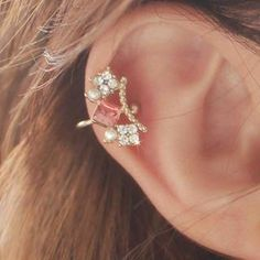 Buy 'kitsch island – Crystal Stone Ear Cuff' with Free International Shipping at YesStyle.com. Browse and shop for thousands of Asian fashion items from South Korea and more!