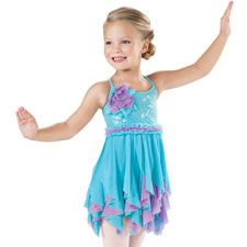 Girls' Sequin Mesh Ruffle Dress - Little Stars. Too cute for a little kid dance.
