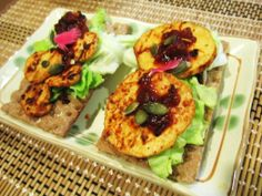 February 04 2014: Grilled tofu for dinner  #vegan #tofu #pepperoni #eatclean #foodisfuel #cooking #homemade
