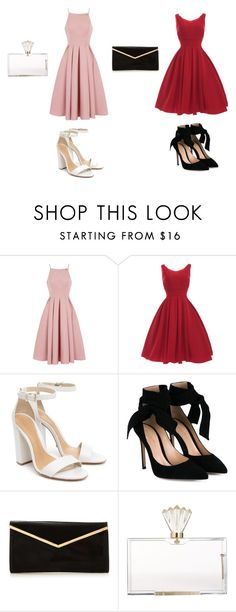 """""""Dress party"""" by rosela-1 on Polyvore featuring Chi Chi, Schutz, Gianvito Rossi and Charlotte Olympia"""
