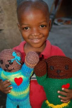 The Mother Bear Project- hand knitted bears are sent to children in need around the world