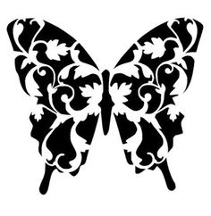 Butterfly stencil butterflies stencils wings bugs template art new painting patterns simple dark tattoo designs Printable Stencil Patterns, Stencil Templates, Free Stencils, Stencil Diy, Stencil Designs, Stenciling, Damask Stencil, Kirigami, Butterfly Stencil