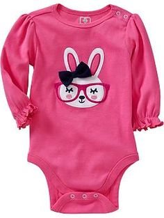 Graphic Ruffle-Sleeve Bodysuits for Baby / Old Navy