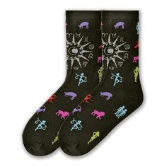 Astrology Signs - Crew Socks for Women Get in touch with your daily horoscope with Astrology Signs Socks Featuring the mystique of all the signs.