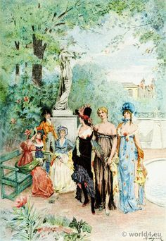 Merveilleuses. The fashions of the Directory. Mode parisienne.