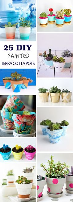 Create something fun for your home by painting your own terra cotta pots.