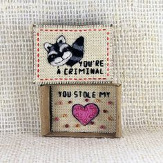 Greeting Card Matchbox Love Card Matchbox Raccoon Card
