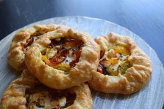 tomato, goat cheese galette