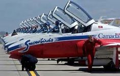 Canadian Snowbirds, what a trill to see them in action, such courage and grace!