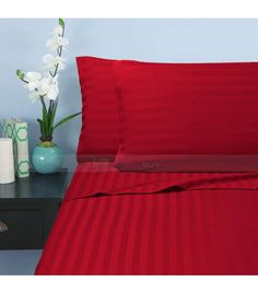 Twin Sleeper Sofa Bed Sheet Set x 100 Percent Egyptian Cotton 600 Thread Count Wine Stripe >>> Check this awesome product by going to the link at the image. (This is an affiliate link) Sofa Bed Sheets, Queen Bed Sheets, Twin Bed Sheets, Twin Xl Sheet Sets, Double Bed Sheets, Twin Xl Bedding, Cotton Sheet Sets, Bed Pillows, Duvet Sets