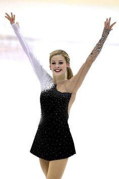 Gracie Gold - U.S. International Figure Skating Classic 2013, Black Figure Skating / Ice Skating dress inspiration for Sk8 Gr8 Designs. Designed by Action Fabrics.