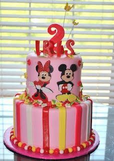 Minnie and Mickey Cake and with her name even!