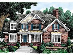Eplans Colonial House Plan - Classic Elements - 2734 Square Feet and 3 Bedrooms(s) from Eplans - House Plan Code HWEPL09340